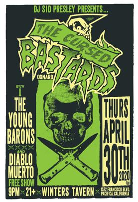 The Cursed Bastards gig poster