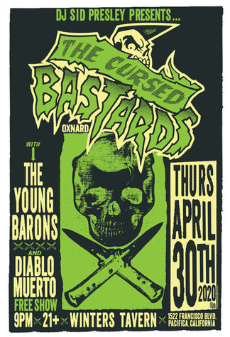 The Cursed Bastards gig poster