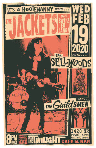 The Jackets Gig Poster
