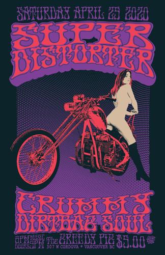 Super Distorter Gig Poster