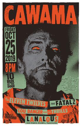 Cawama Oct 25 gig poster