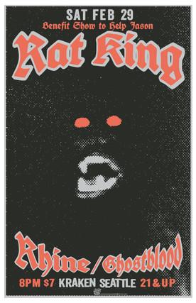 Rat King Gig Poster