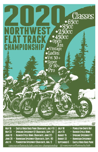 2020 Northwest Flat Track Championship Event Poster
