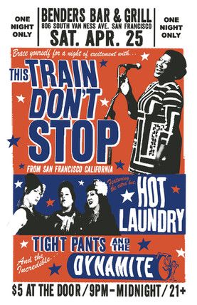 This Train Don't Stop and Hot Laundry Gig Poster