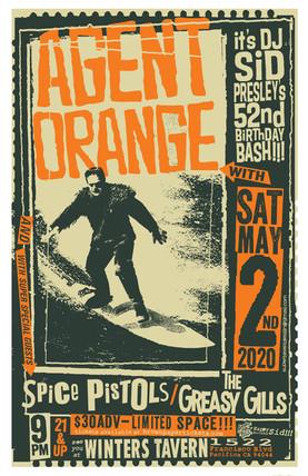 Agent Orange Gig Poster