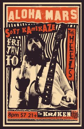 Aloha Mars gig poster