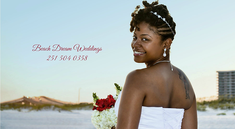 beautiful black beach bride