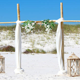 BEACH CHIC BEACH WEDDING