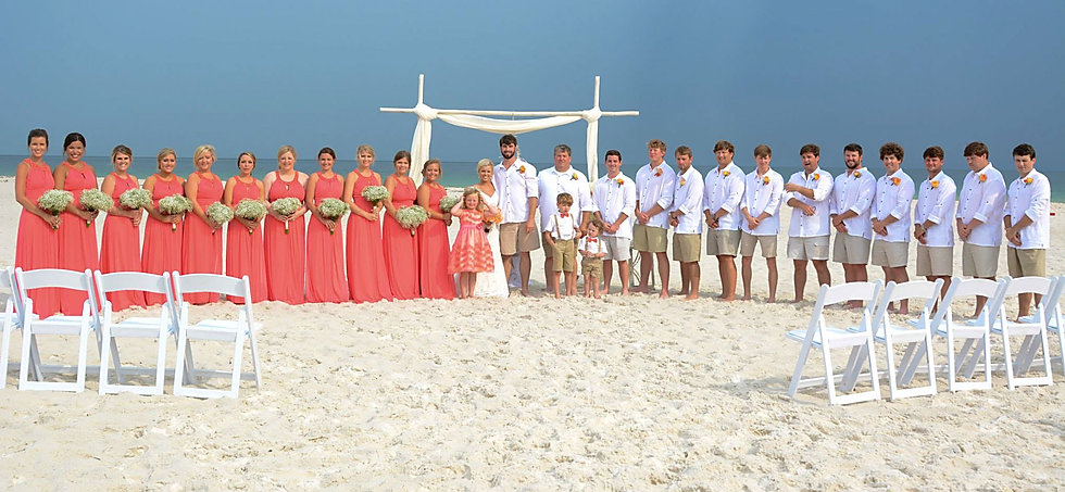 Simply Chic Beach Wedding, Orange Beach Alabama