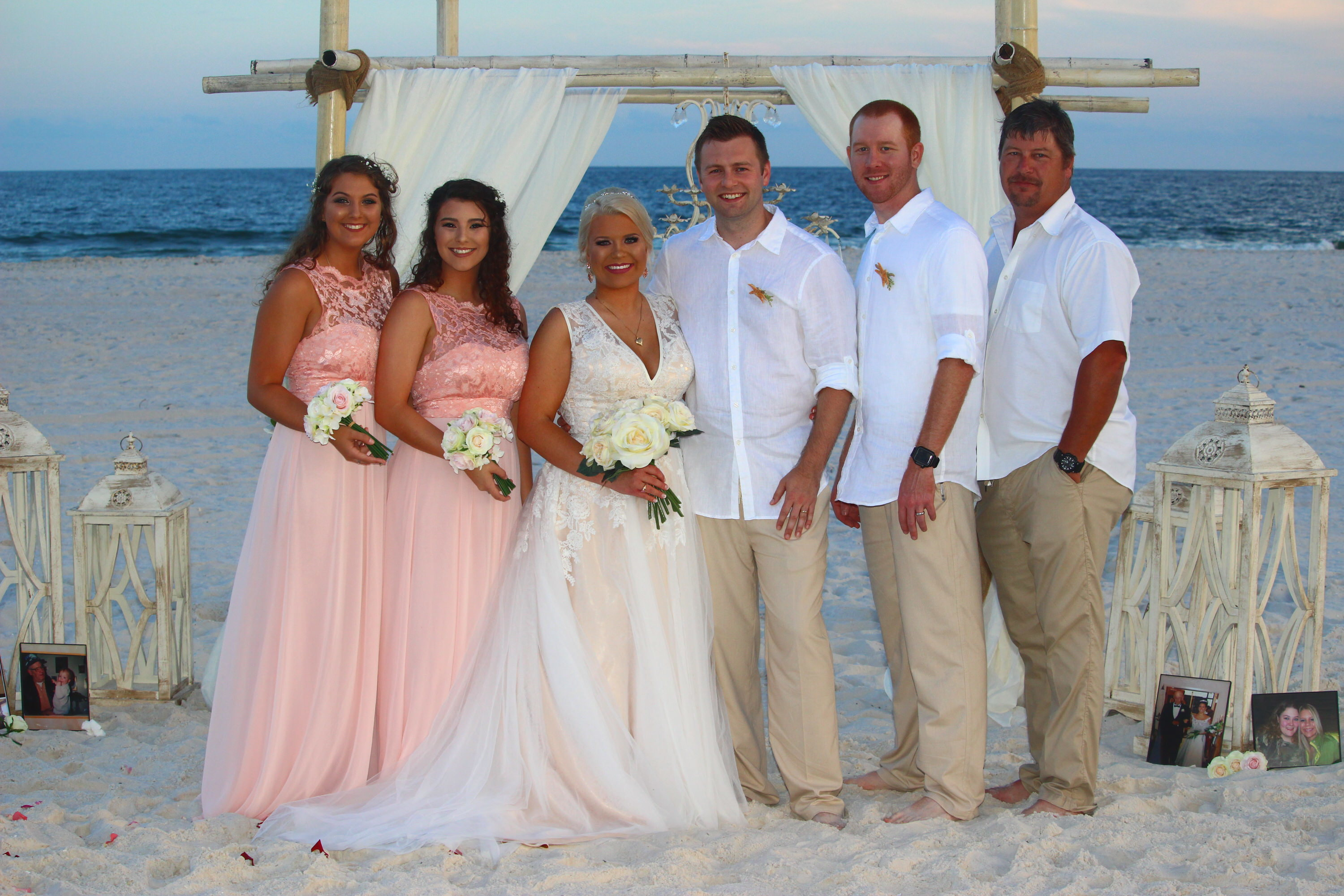 beach wedding of dallas and shellie