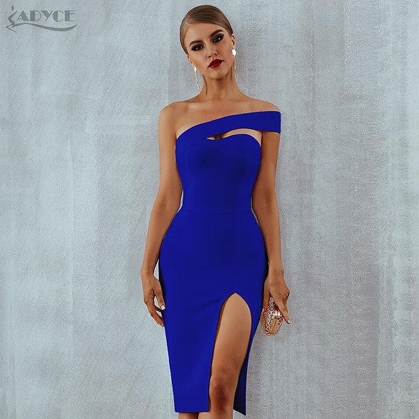 Adyce White Bodycon Bandage Dress Women Vestidos 2020