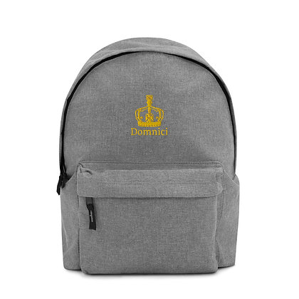 Domnici Embroidered Backpack (Gold)