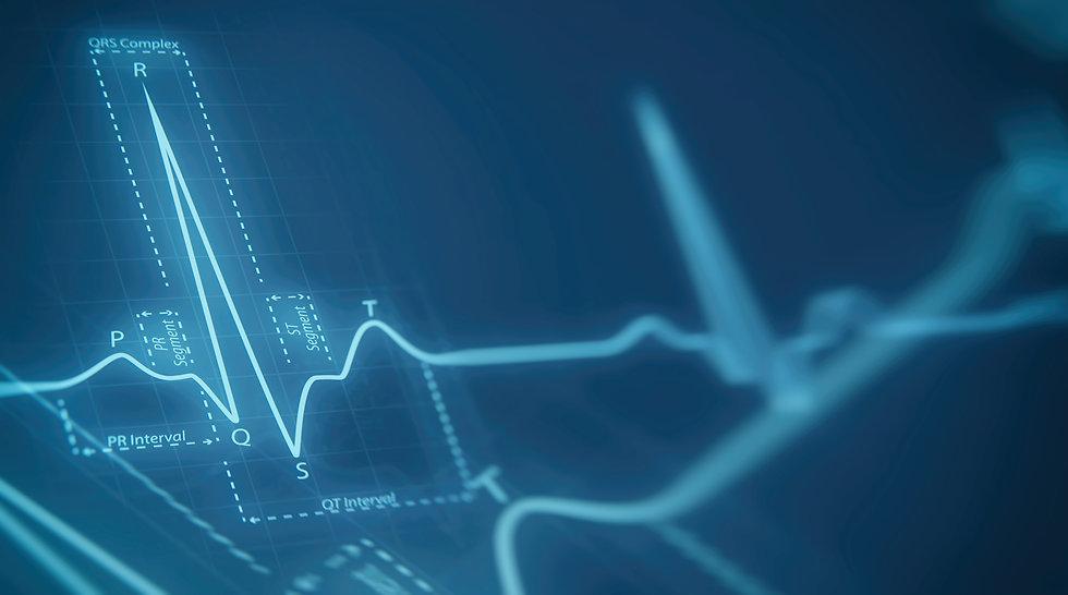 Abstract heart beats cardiogram illustra