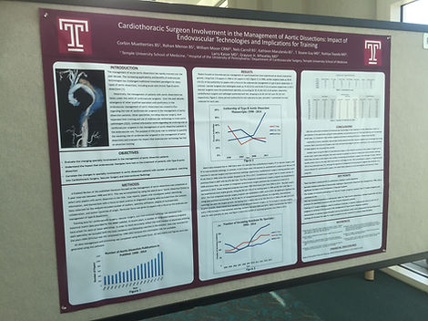 Dr. Grayson Wheatley Research Poster Cardiac Surgery