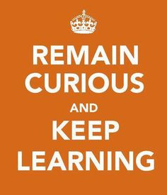 Remain Curious and Keep Learning