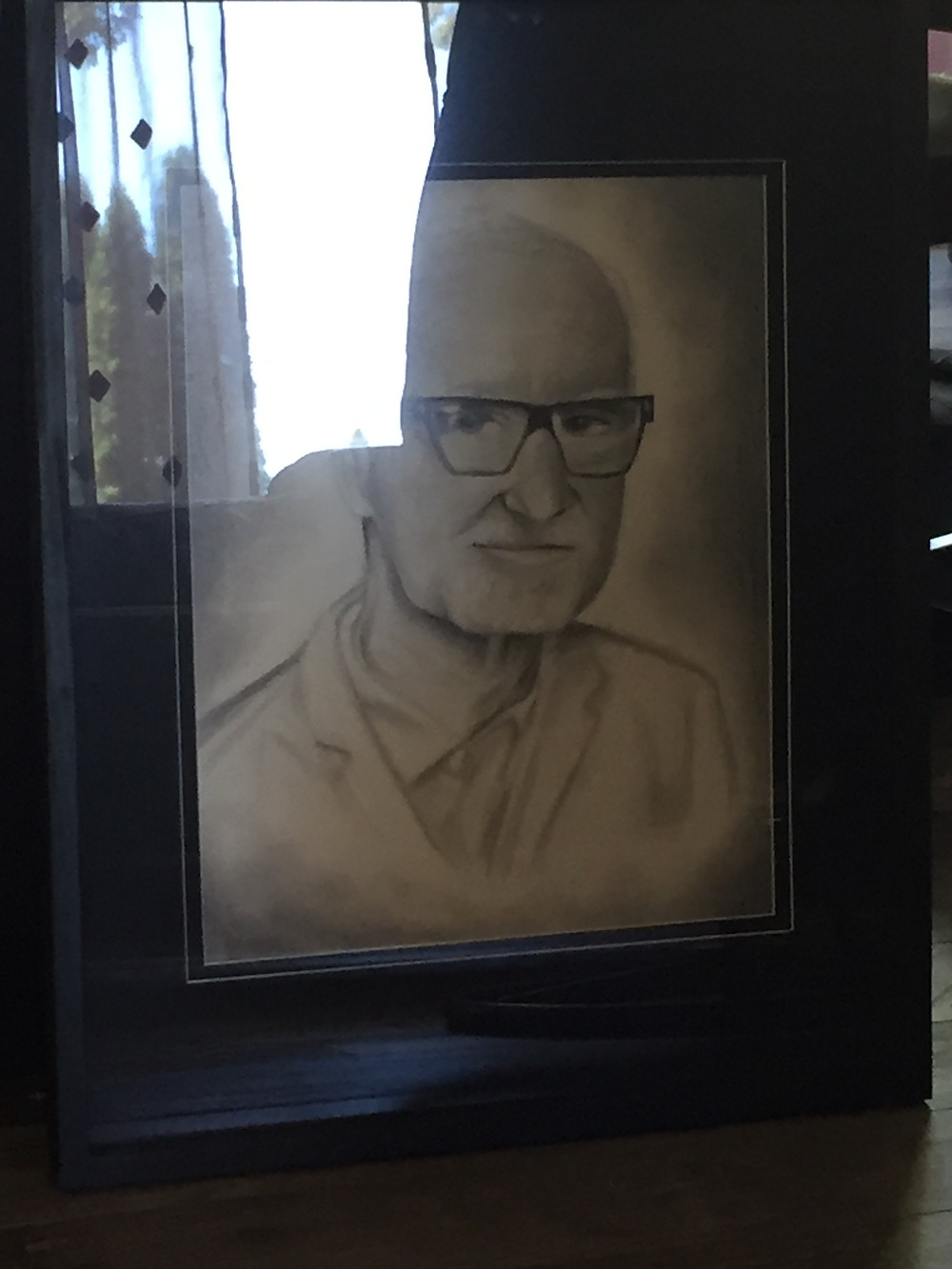 Jozanna made a pencil portrait of my dad for the memorial service.