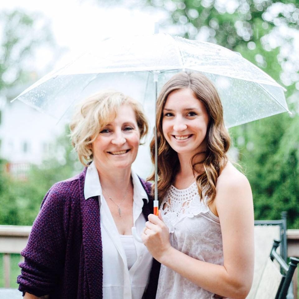 Rayzanna and me at her first bridal shower - while in a rain shower!