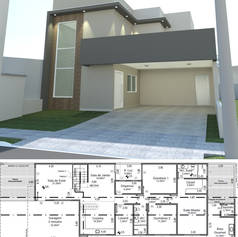 Projeto Residencial - 228m²
