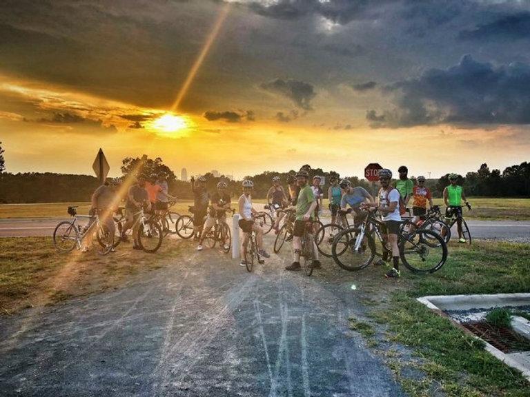 ride like a fish quarry park sunset group bike ride