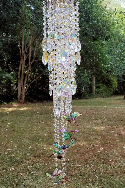 Hummingbirds Crystal Wind Chime
