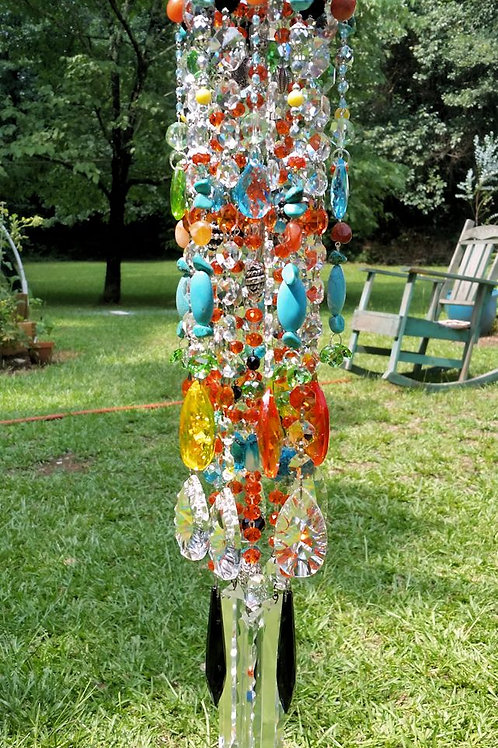 Sunny Days Antique Crystal Wind Chime