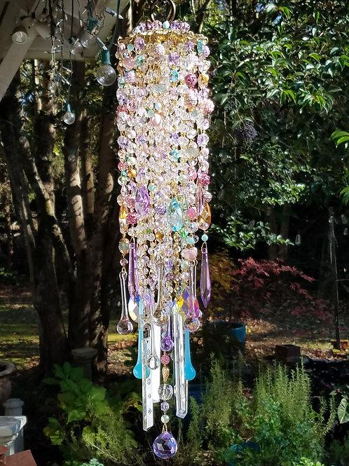 Sugarplum Antique Crystal Wind Chime