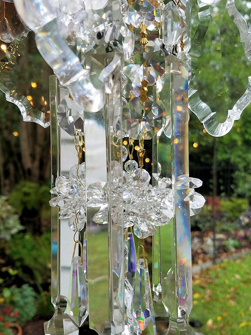 Clear Crystal Antique Wind Chime