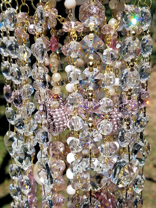 Pink Crystal Antique Wind Chime