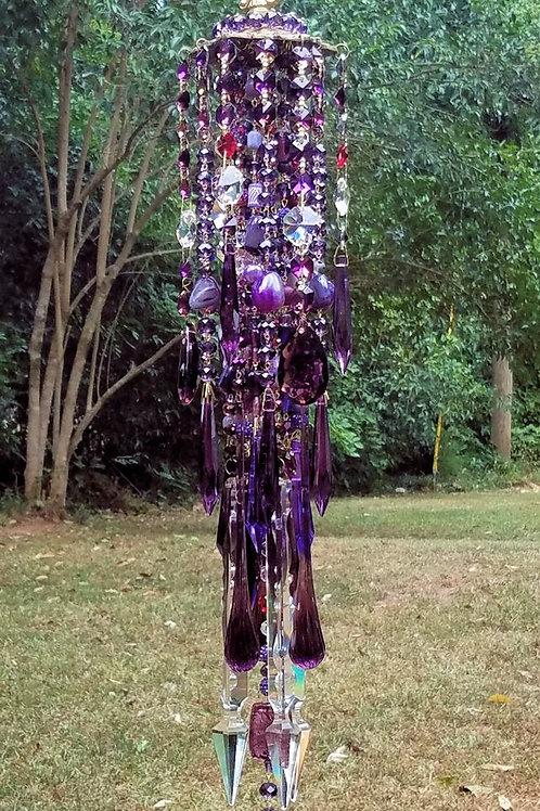 Purple Crystal Wind Chime