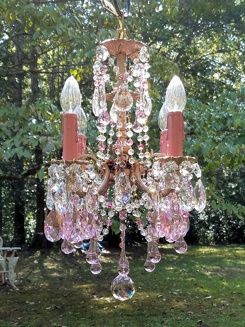 Rose Gold Antique Brass Chandelier