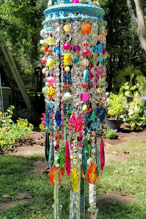 Jeweled Bohemian Carnival Crystal Wind Chime