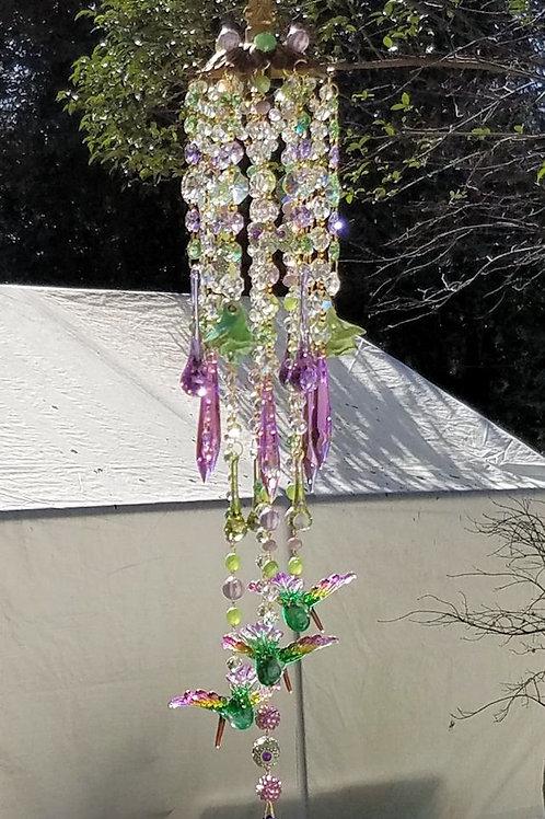 Hummingbird Crystal Sun Catcher