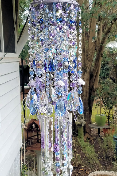 Lilac Roses Wind Chime