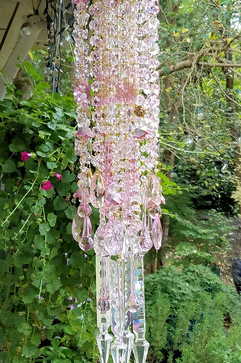 Pink Crystal Wind Chime