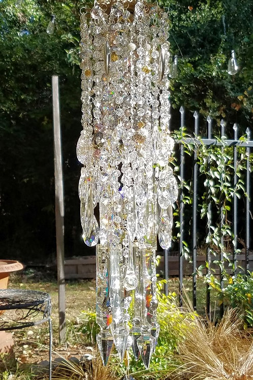 For Celeste ~ Silver and Gold Crystal Wind Chime