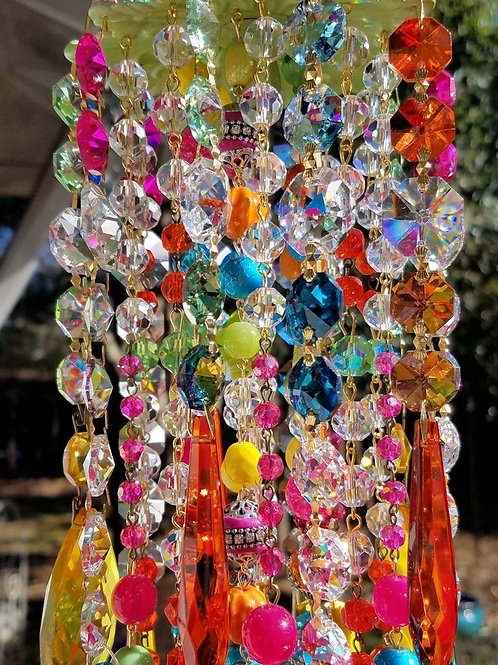 Multi Color Antique Crystal Wind Chime