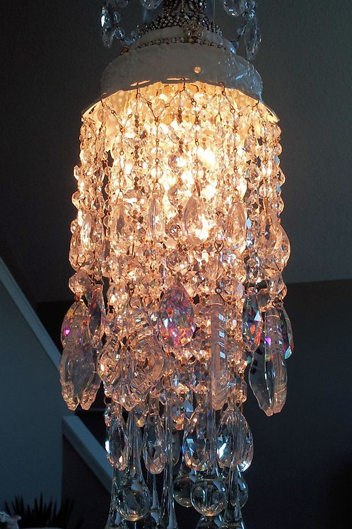 Vintage Jeweled Crown Chandelier
