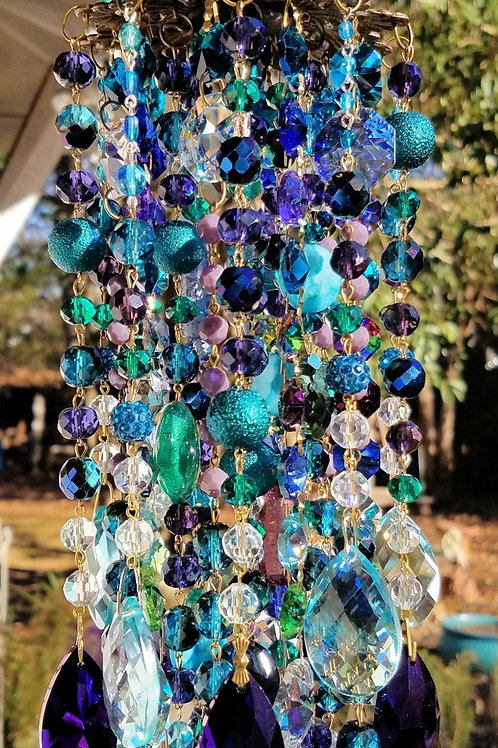 Majestic Antique Crystal Wind Chime