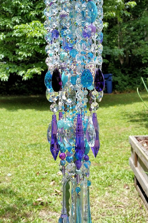 Peacock Crystal Wind Chime