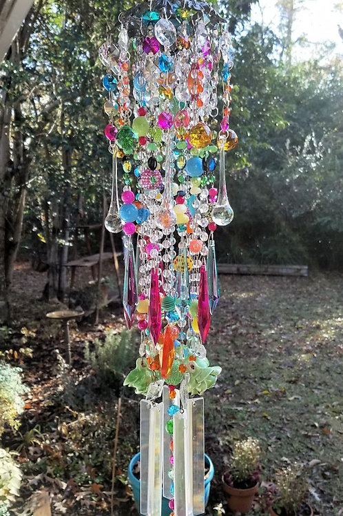 Colorful Antique Crystal Wind Chime