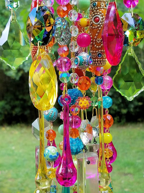 Color Explosion Antique Crystal Wind Chime