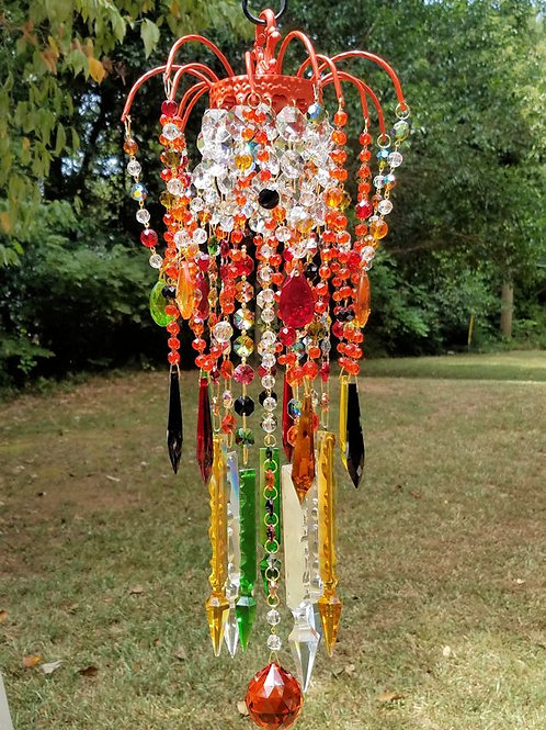Autumn Brilliance Antique Crystal Wind Chime