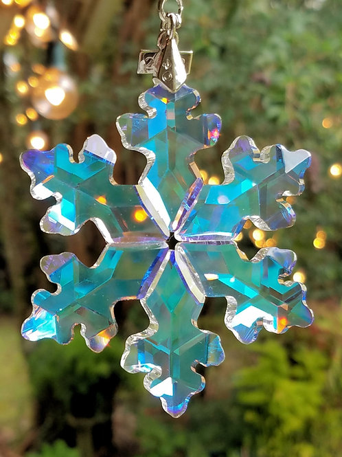 Crystal Snow Flake Sun Catcher