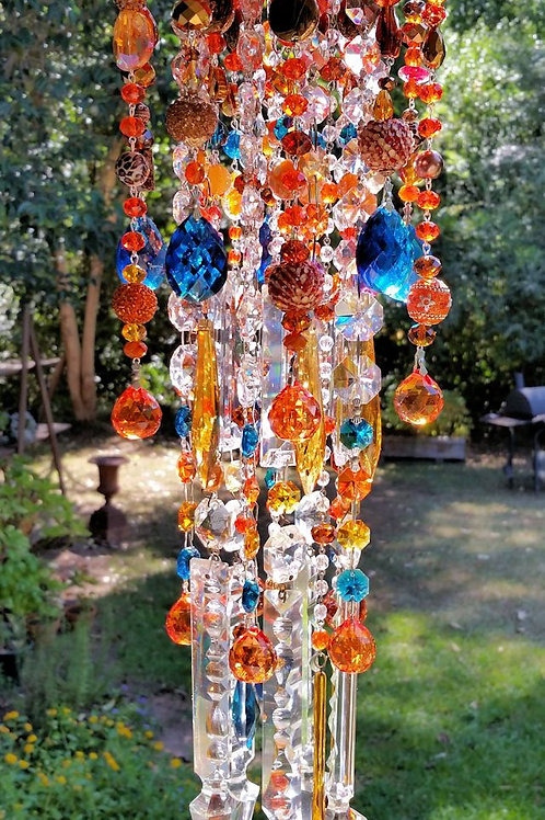 Autumn Splendor Antique Crystal Wind Chime