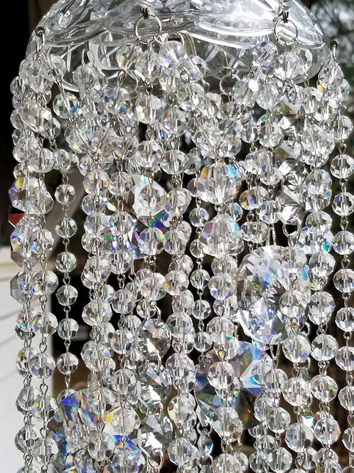 Vintage Glass and Crystal Wind Chime