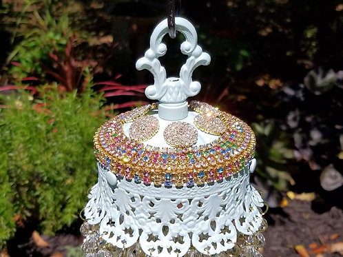 Jeweled Pastels Antique Crystal Wind Chime