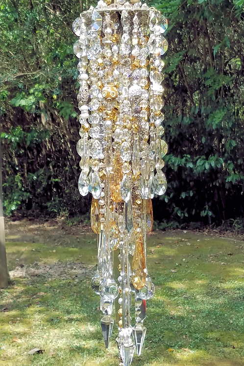 Silver and Gold Antique Crystal Wind Chime