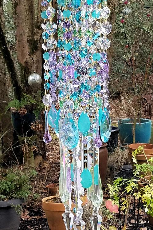 Lilac and Aquamarine Antique Wind Chime
