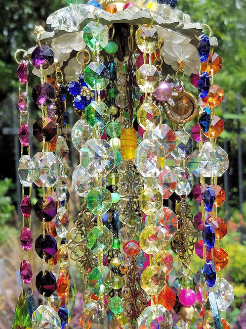 Bohemian Summer Antique Crystal Wind Chime