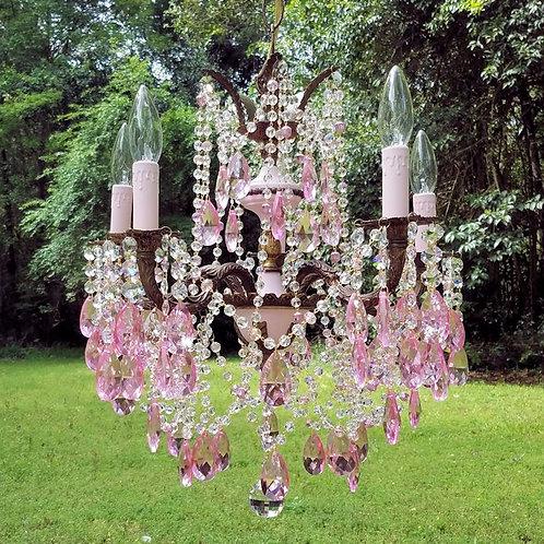 Pink Antique Chandelier